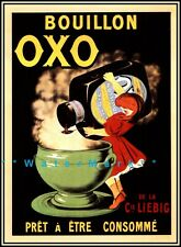 OXO 1930 French Bouillon Vintage Poster Print Retro Style KItchen Wall Art