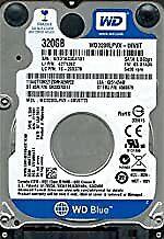 """WD Western Digital WD3200LPVX-75V0TT0 SATA Slim 7mm 320GB 2.5"""" HDD N12F5 2013"""