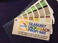Glasurit Lack in Lack Profi Mix Farbtonblock mit Ral Karte    Art 1