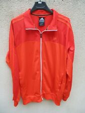 Veste ADIDAS Performance Essentials orange rouge felpa jacket giacca sport L