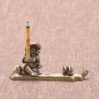 Pure Brass Stick Incense Holder Figure Miniature Home Ornament Decoration Gift