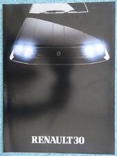 Renault 30 TX 1983/84 UK Sales Brochure. Manual & Automatic 5-door Hatchback.