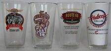 Closed micro beer, brewery pint glasses, your choice, pick the 4 you want