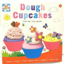 Childrens Kids Creative Make Your Own Dough Cup Cake Set Modelling Doh Toy