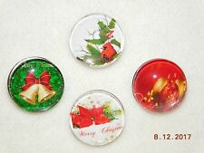 4 Christmas Snap Button Chunk metal Chrams for Leather Snap bracelets 18-19MM