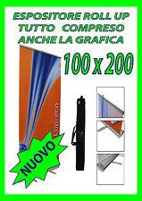 ESPOSITORE ROLL UP 100X200 COMPRESO STAMPA COMPRESO GRAFICA E BORSA