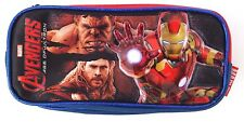 Marvel Avengers Age Of Ultron Boy's School Double Compartment Pencil Case NWT