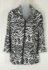 Chico's Zenergy Zebra Jacket Size 3 (XL)