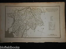 Original Phillips Antiquarian Map of Westmoreland - 1808 - Cumbria/Lake District