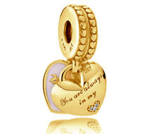 Genuine PANDORA Mother & Daughter Hanging Charm 14K Gold Plated 792072EN40