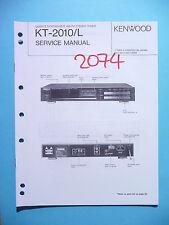 Instrucciones Manual de servicio para Kenwood kt-2010, original