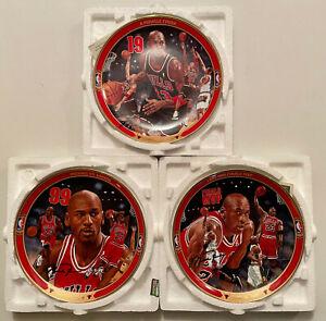 Lot of 3 Upper Deck Michael Jordan - Return to Greatness Collector Plates w/COA