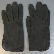 Vintage Leather Silk Lined Gloves Sz 7 Made in Italy
