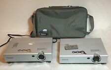2X PANASONIC PT-LB10U/LB10UV LCD PROJECTOR HOME / OFFICE / MOVIE W/Out Lamps