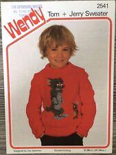 "Wendy Knitting Pattern:  Boys & Girls Tom & Jerry Sweater, DK, 20-34"", 2541"
