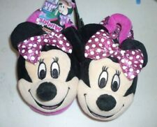 New Girls size 9-10 Minnie Mickey Mouse Purple Slippers
