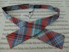 HACKETT Bow Tie Mens Bond-Style Tartan Plaid Necktie Red Adjusted Open Bow R£60