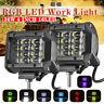 2x 36W 4inch LED Work Light Bar Flood Spot Lights Driving Lamp Offroad Car Truck