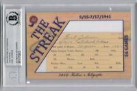 2019 Historic Autographs EARL JOHNSON Involved in Joe DiMaggio 56 Game Streak