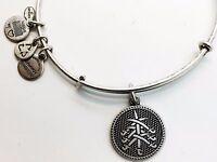 Alex and Ani SEVEN SWORDS Charm Bangle Bracelet Wrap Rafaelian Silver