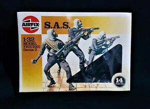 AIRFIX 1986 BRITISH SAS COMPLETE SET,  SEALED BOX LOT A.