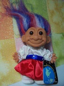 "AROUND THE WORLD  USA  - 5"" Russ Troll Doll - NEW IN ORIGINAL BAG"