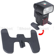 "FOLDABLE flash stand mount holder br​acket base Hot Shoe 1/4"" for Sony flashgun"