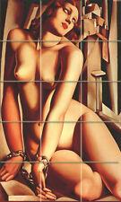 Art Deco Andromeda Nude Tamara Lempicka Ceramic Mural Backsplash Bath Tile #905