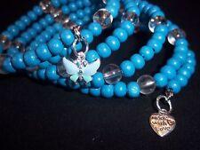 Wood Bead ADJUSTABLE Coil Wrap CHARM Bangle Bracelet (W-01) by Quality Jewelry