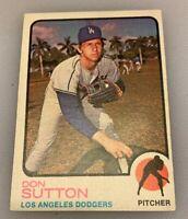 1973 Topps Baseball Card Don Sutton # 10 HOF