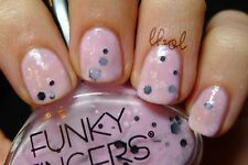 Funky Fingers Berried Treasure Pink Speckled Polish Manicure Pedicure Sparkle