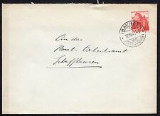 Switzerland: Plain Cover with 1930s 20c Lake Lugano stamp (Thayngen cancel)