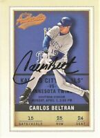 2002 Fleer Authentix #25 Signed Carlos Beltran Kansas City Royals Baseball Card