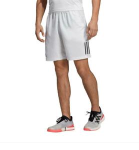 Adidas Men's Club 3 Stripes Tennis Shorts, Dash Grey/ Grey Six