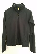 Lucy Athletic Track Jacket Zip Up White Striped Long Sleeve S Black Womens
