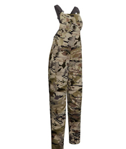$180 Under Armour Women's Grit Camo Mid Season Hunting Bib 1344583-999 . NWT
