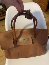 Mulberry Bayswater Classic Size Tote Bag Oak Tan Grain Leather Handbag