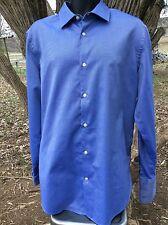 Banana Republic  Button Front Dress Shirt Mens Fitted 17-17.5 XL Blue Cuff Sleev
