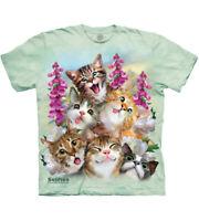 The Mountain Kitten Selfie Adult Unisex T-Shirt