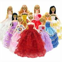 Wholesale 10Pcs Party Dresses Clothes Gown For Dolls Toys Girl's Gifts