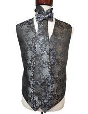 Men's metallic flower  vest set with tie hanky and bowtie size ( 3XL )