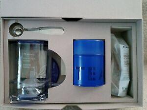 Teavana PERFECTEA Perfect Tea Maker 16 oz Loose Leaf Tin + Spoon Set New