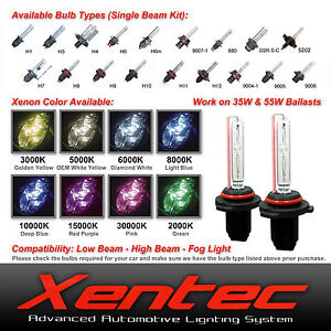 Xentec Two 35W 55W HID Kit Xenon Light Replacement light bulbs H1 H4 H7 H11 9006