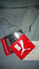 Men's Size Large Grey Puma Short Sleeve Golf Top New
