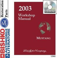 2003 Ford Mustang Shop Service Repair Manual CD Engine Drivetrain Electrical OEM