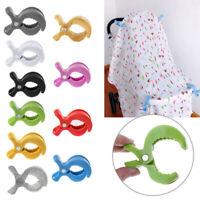 7.5cm*5cm Plastic Baby Car Seat Toy Lamp Pram Stroller Peg Hook Blanket Clip