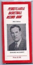 Vintage 1953 Pennsylvania High School Basketball Record Stat Book Photos Coke Ad
