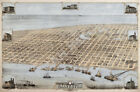 Galveston TX c1871 panoramic map repro 36x24