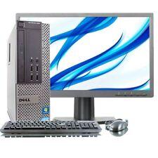 """Fast DELL 790 + 20"""" Monitor Quad Core i5 128 GB SSD 8 GB WINDOWS 10 Pro Desktop PC"""