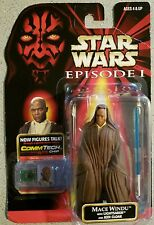 Star Wars Jedi Mace Windu action figure Episode One Commtech new Unsealed Card